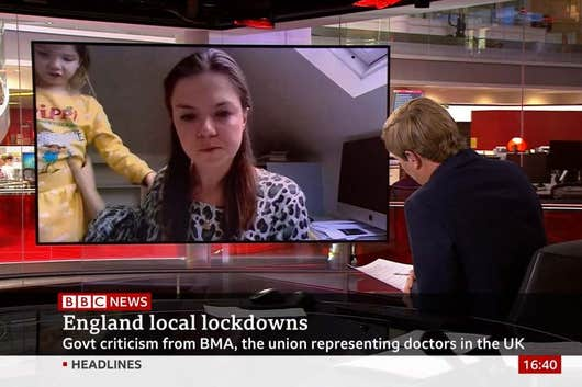 'Mummy, what's his name?': expert's daughter invades BBC interview
